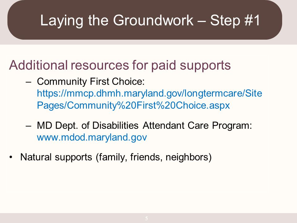 Laying the Groundwork – Step #1