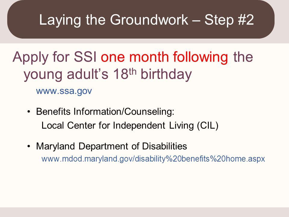 Laying the Groundwork – Step #2