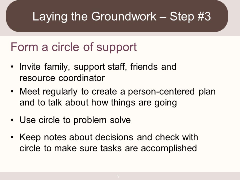 Laying the Groundwork – Step #3