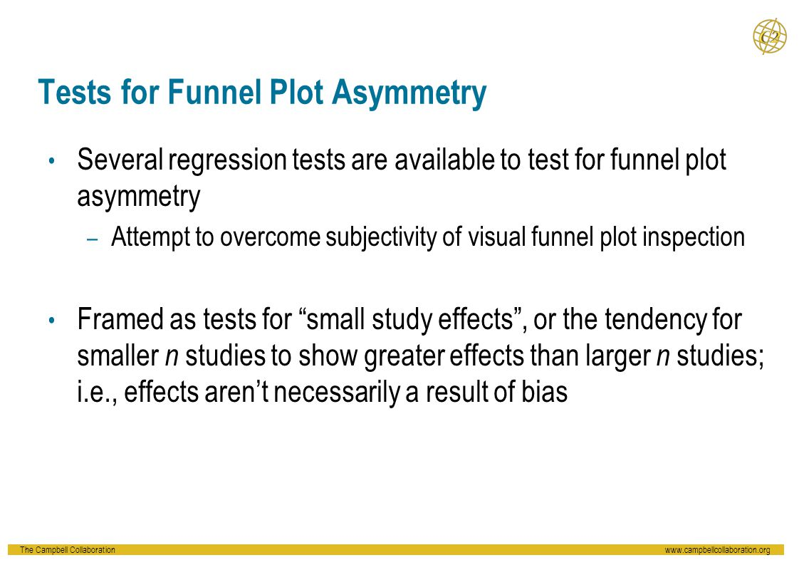 Tests for Funnel Plot Asymmetry
