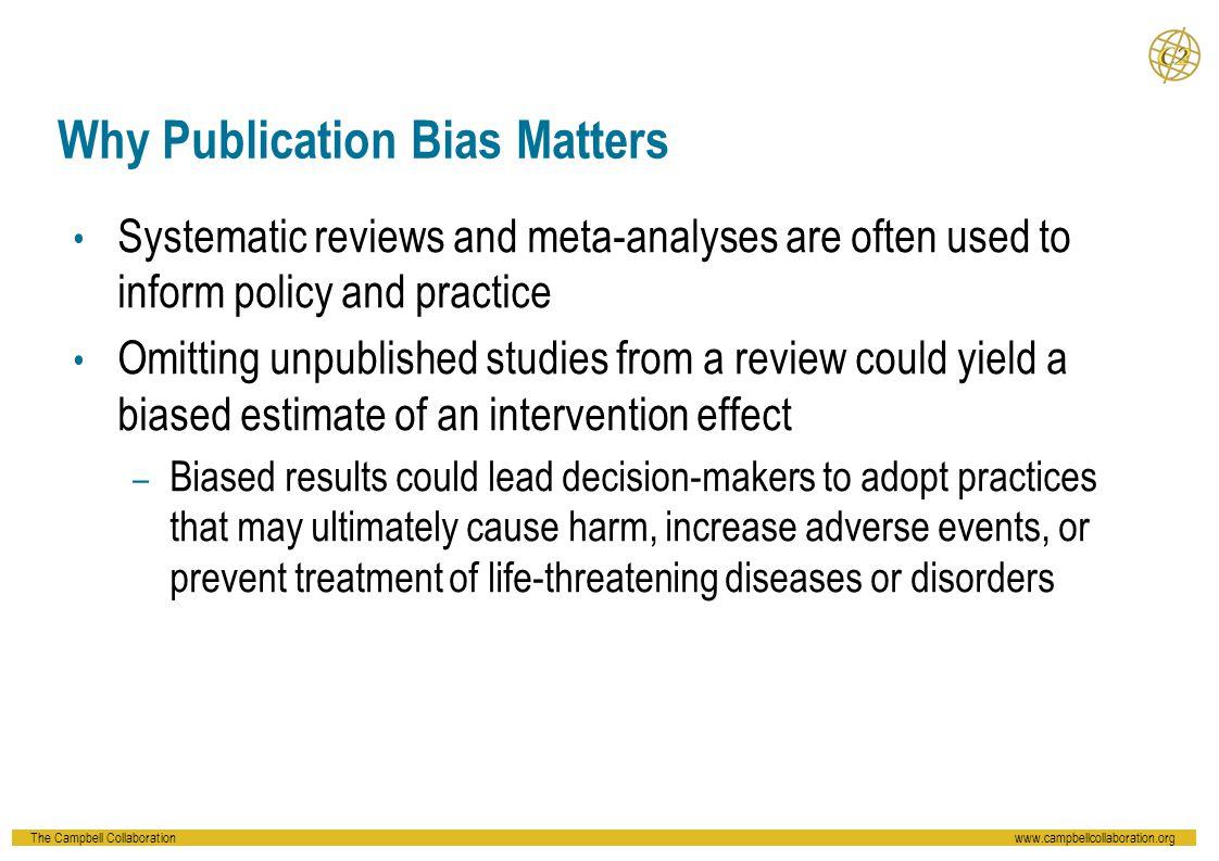 Why Publication Bias Matters