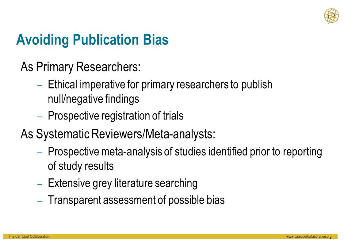 Avoiding Publication Bias