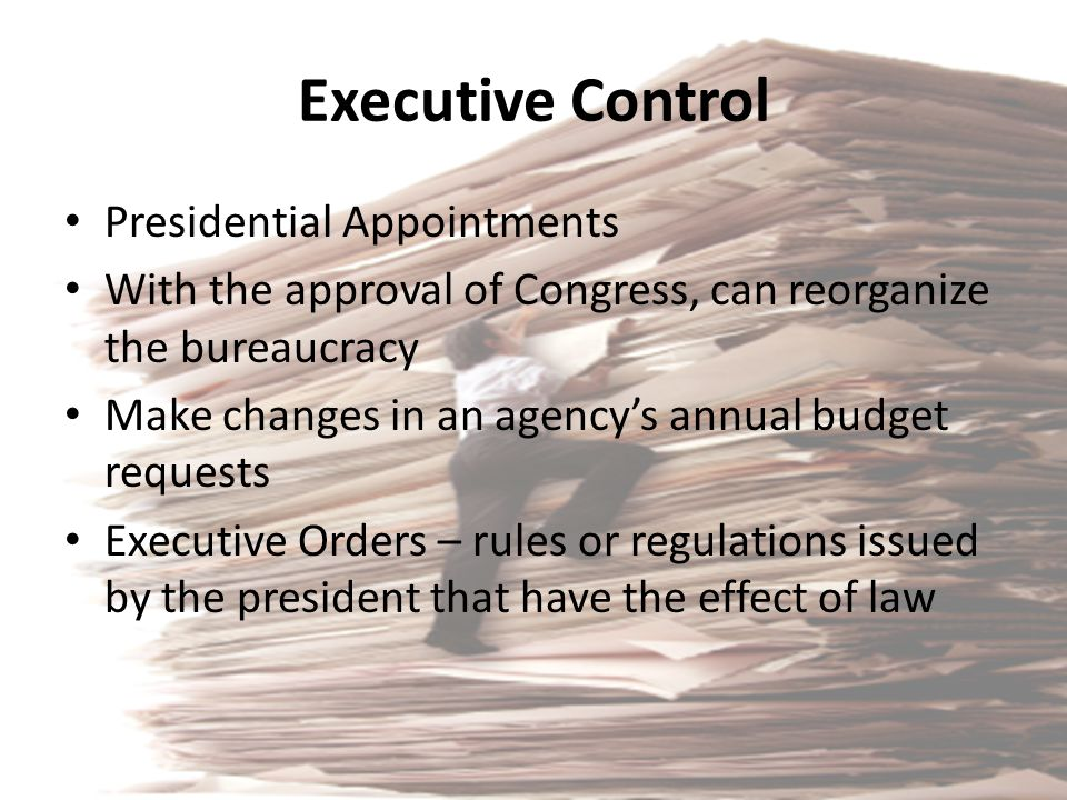 Executive Control Presidential Appointments