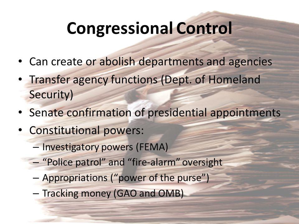 Congressional Control