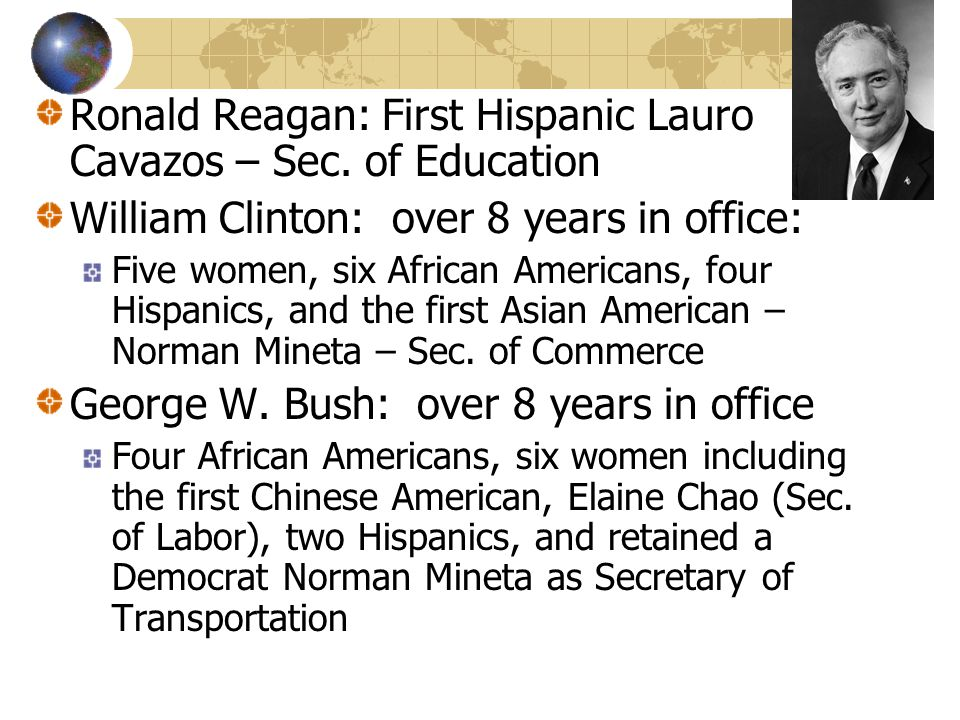 Ronald Reagan: First Hispanic Lauro Cavazos – Sec. of Education