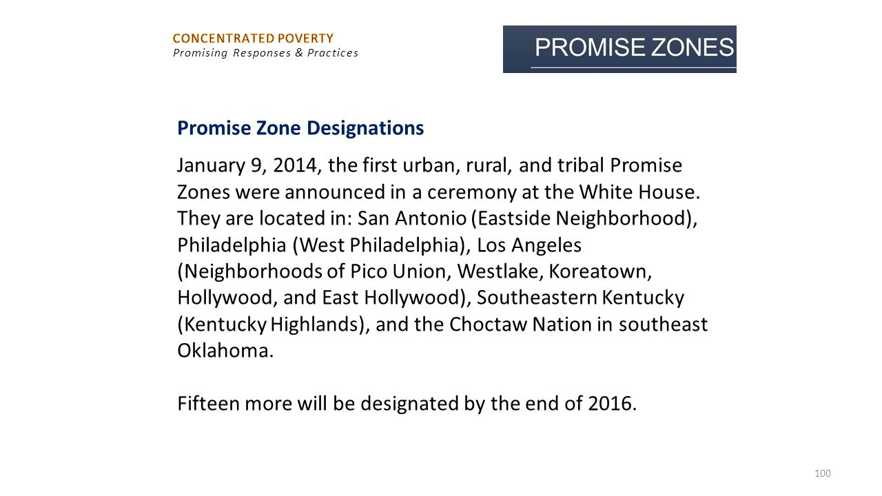 Promise Zone Designations