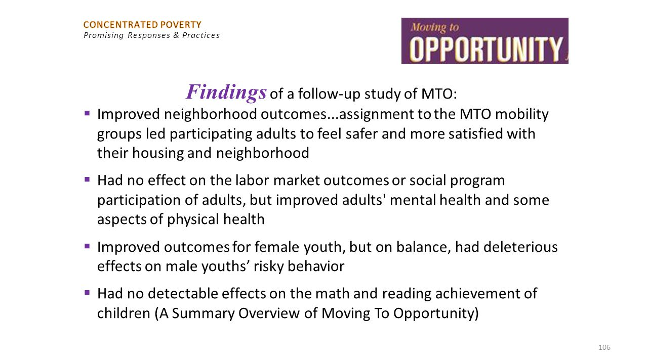 Findings of a follow-up study of MTO:
