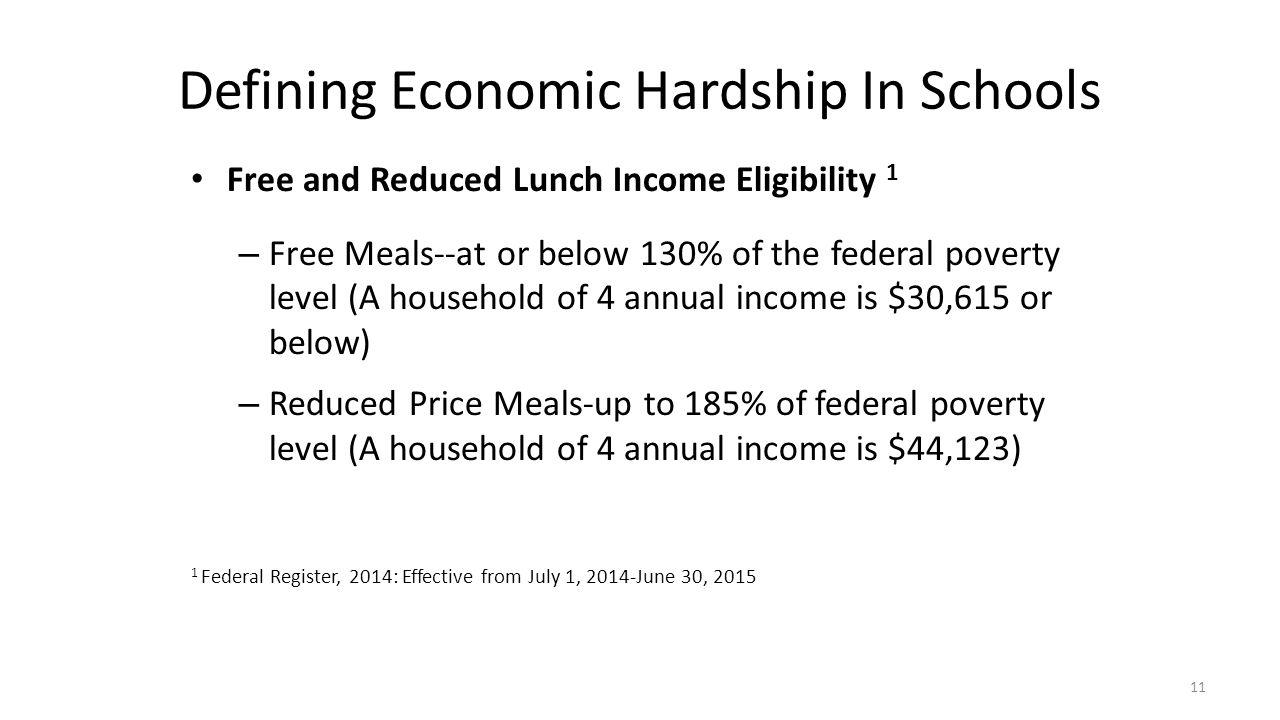 Defining Economic Hardship In Schools