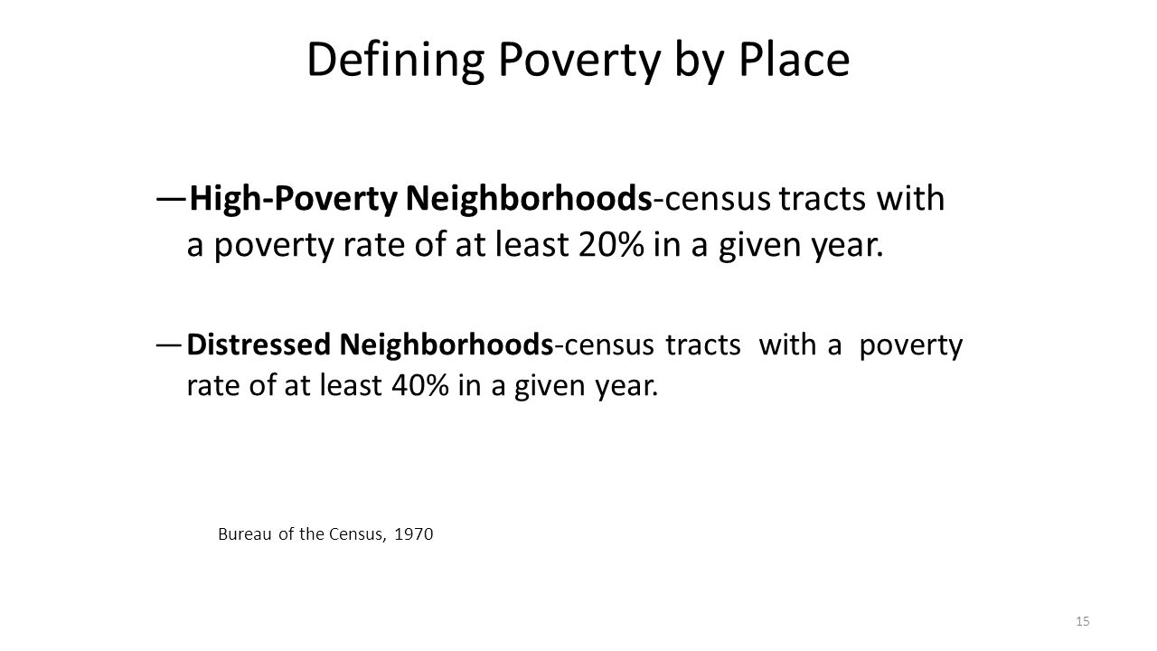 Defining Poverty by Place