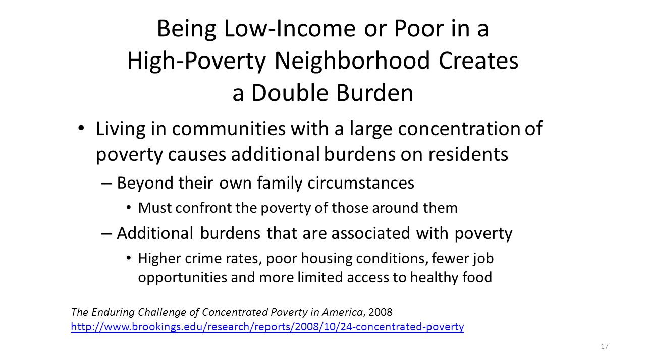 Being Low-Income or Poor in a High-Poverty Neighborhood Creates a Double Burden