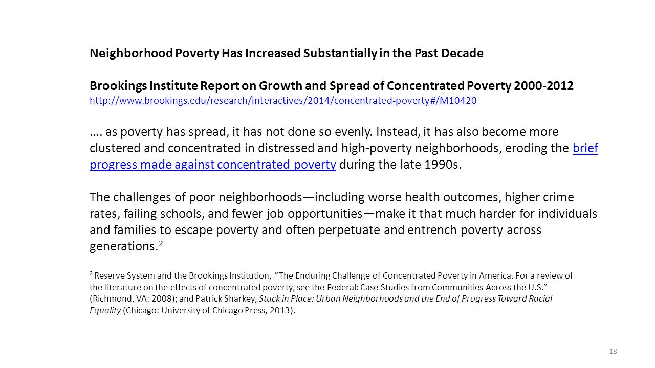 Neighborhood Poverty Has Increased Substantially in the Past Decade