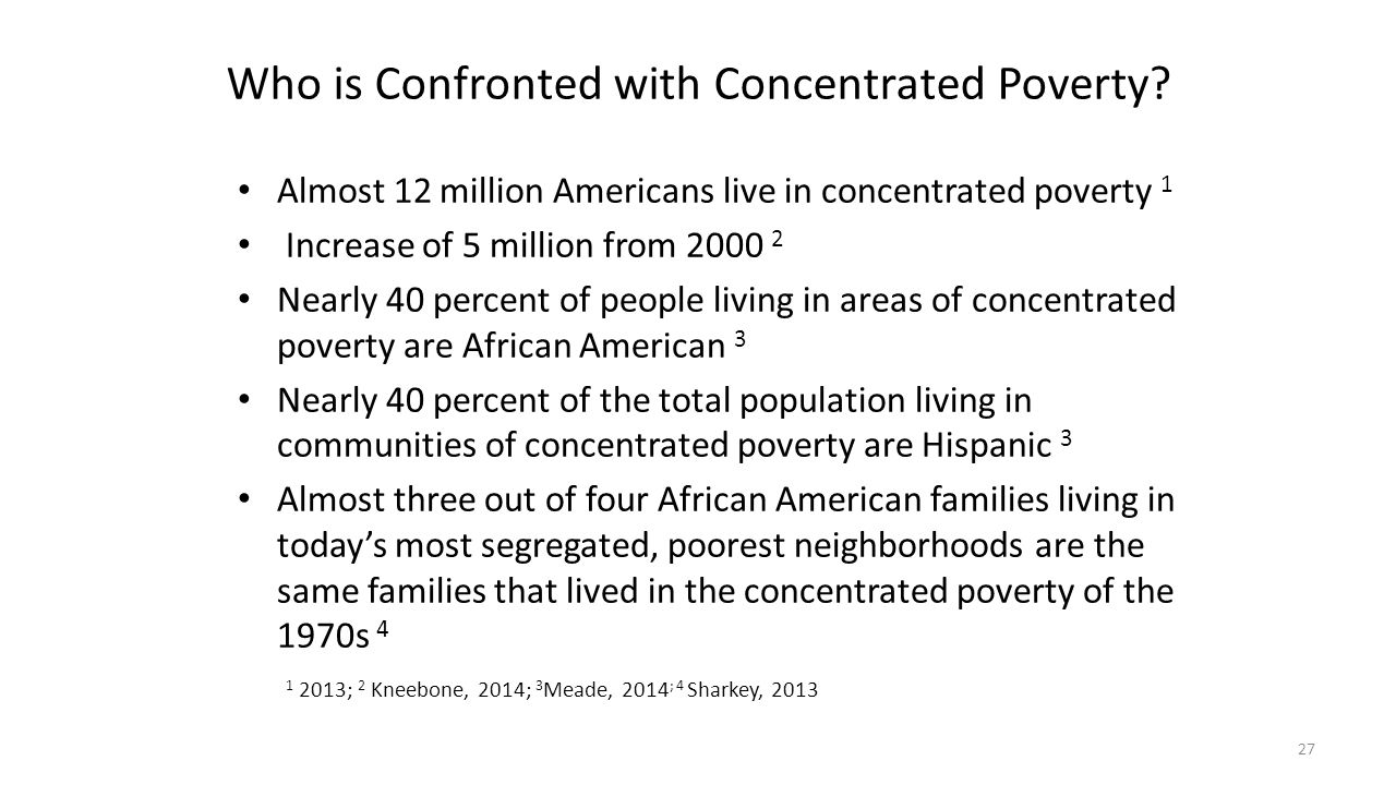 Who is Confronted with Concentrated Poverty
