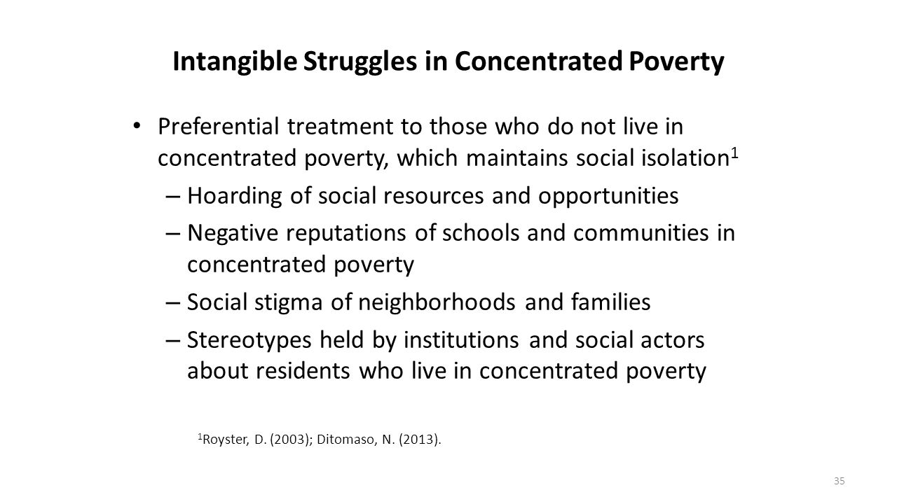 Intangible Struggles in Concentrated Poverty