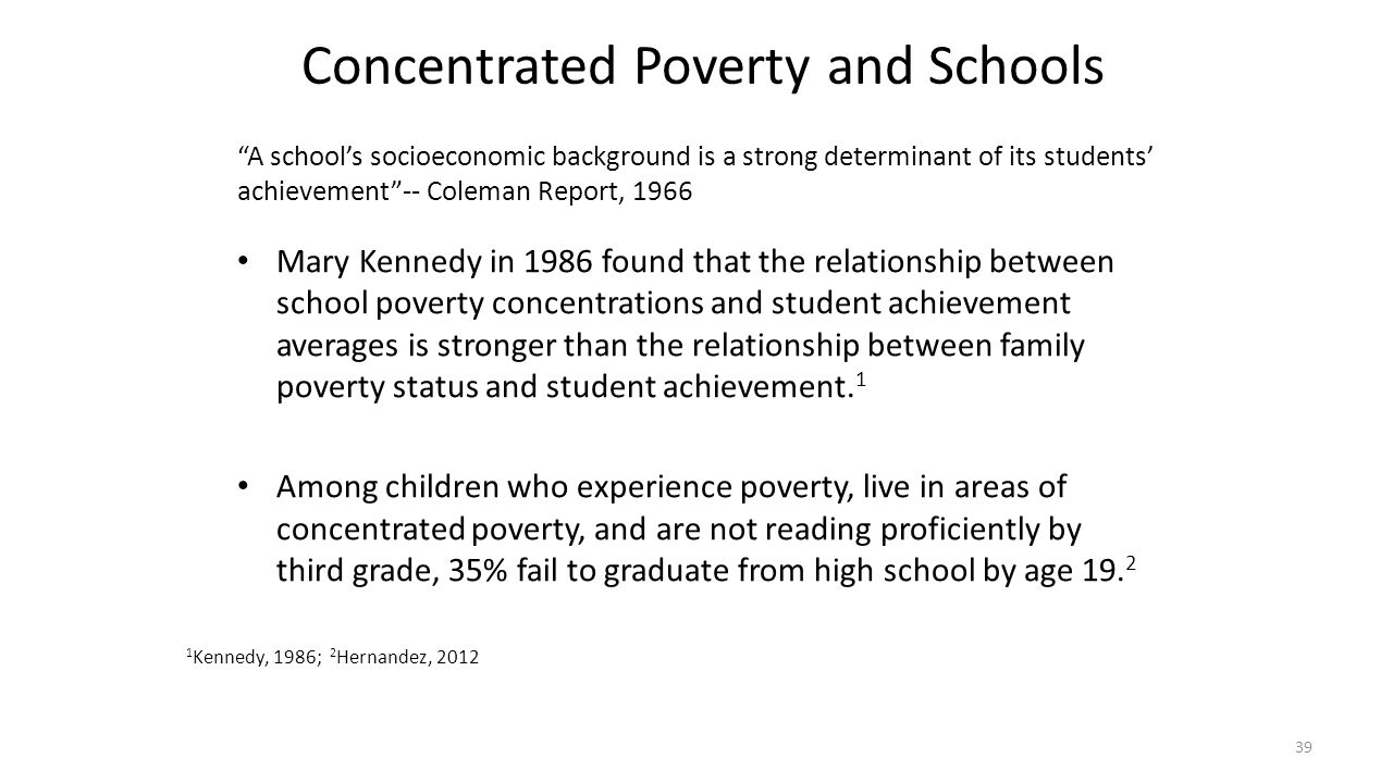 Concentrated Poverty and Schools