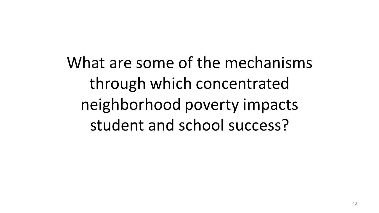 What are some of the mechanisms through which concentrated neighborhood poverty impacts student and school success
