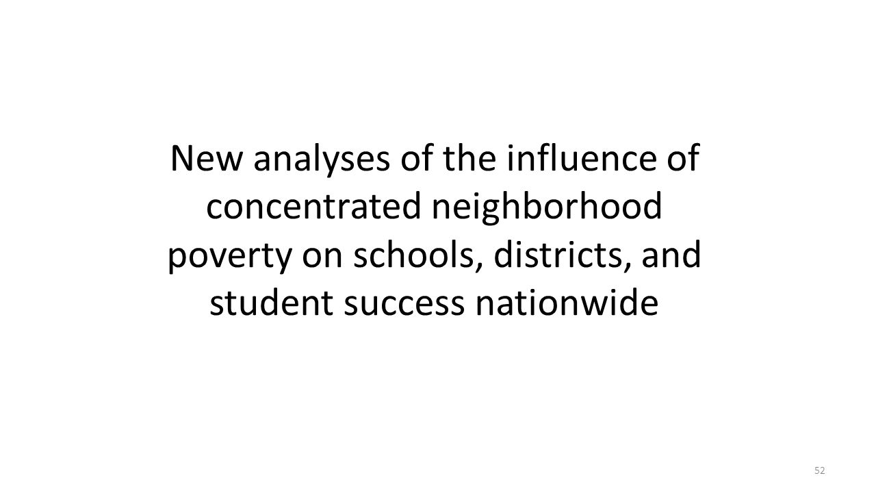 New analyses of the influence of concentrated neighborhood poverty on schools, districts, and student success nationwide