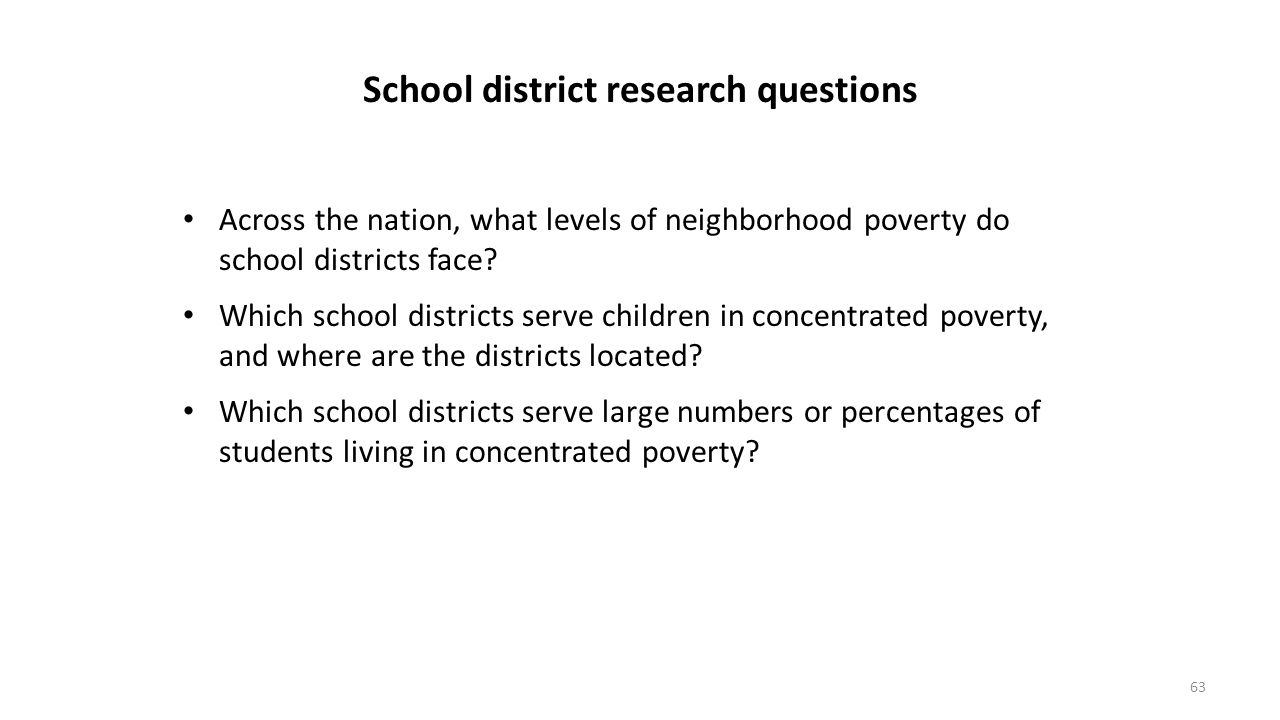 School district research questions