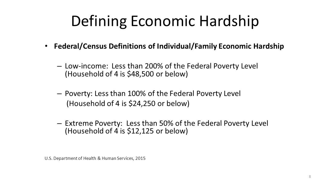 Defining Economic Hardship