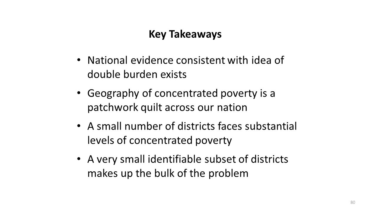 Key Takeaways National evidence consistent with idea of double burden exists.