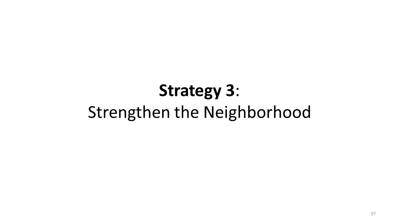 Strategy 3: Strengthen the Neighborhood