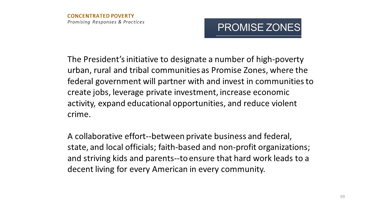 CONCENTRATED POVERTY Promising Responses & Practices.