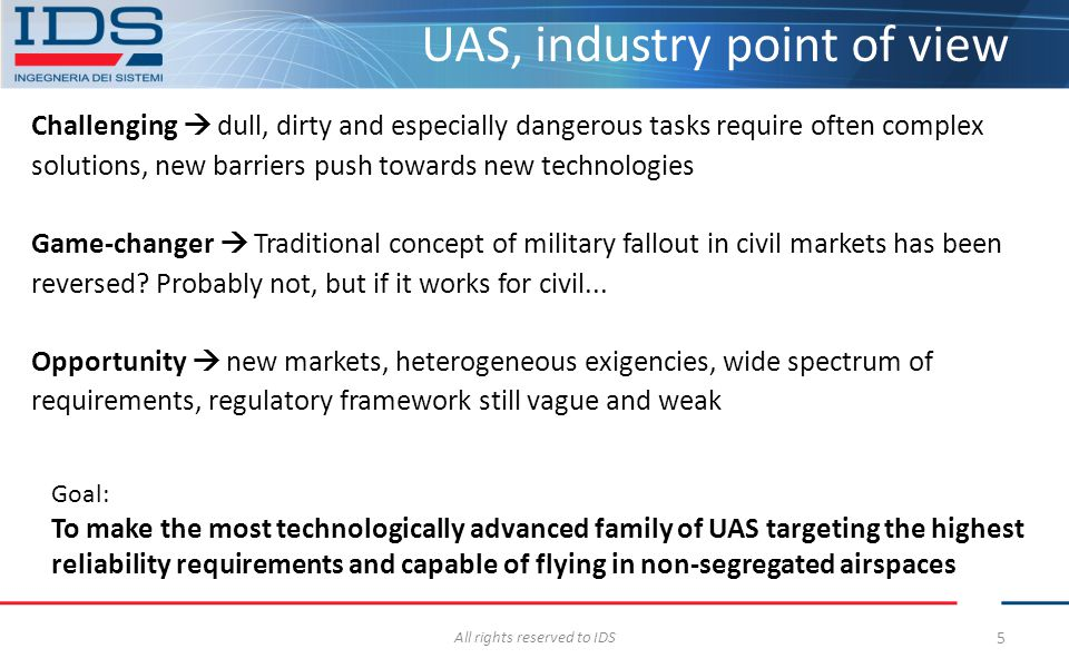 UAS, industry point of view