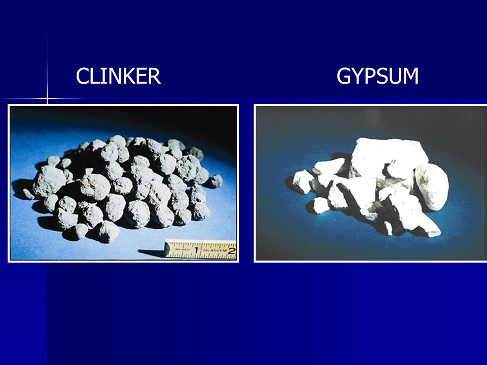 CLINKER GYPSUM