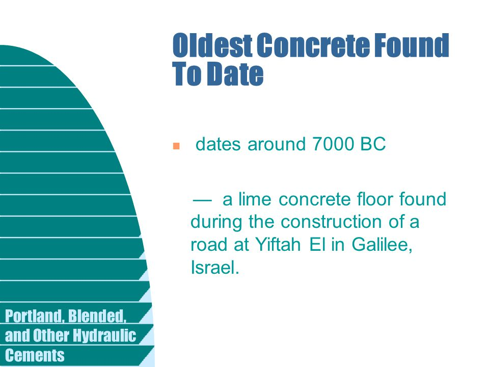 Oldest Concrete Found To Date