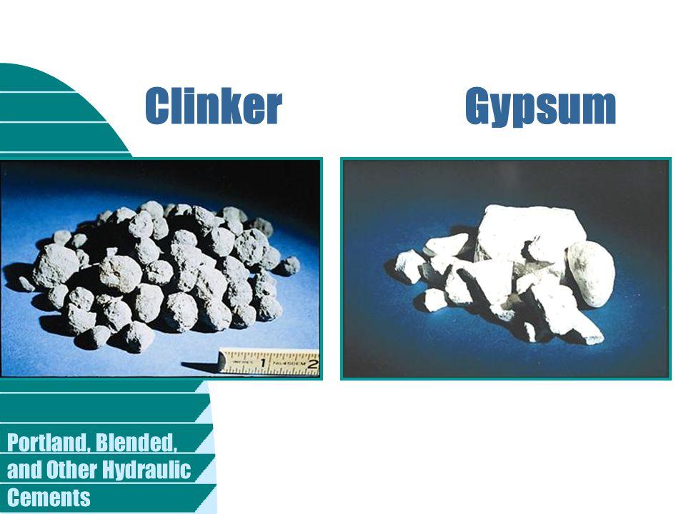 Clinker Gypsum.