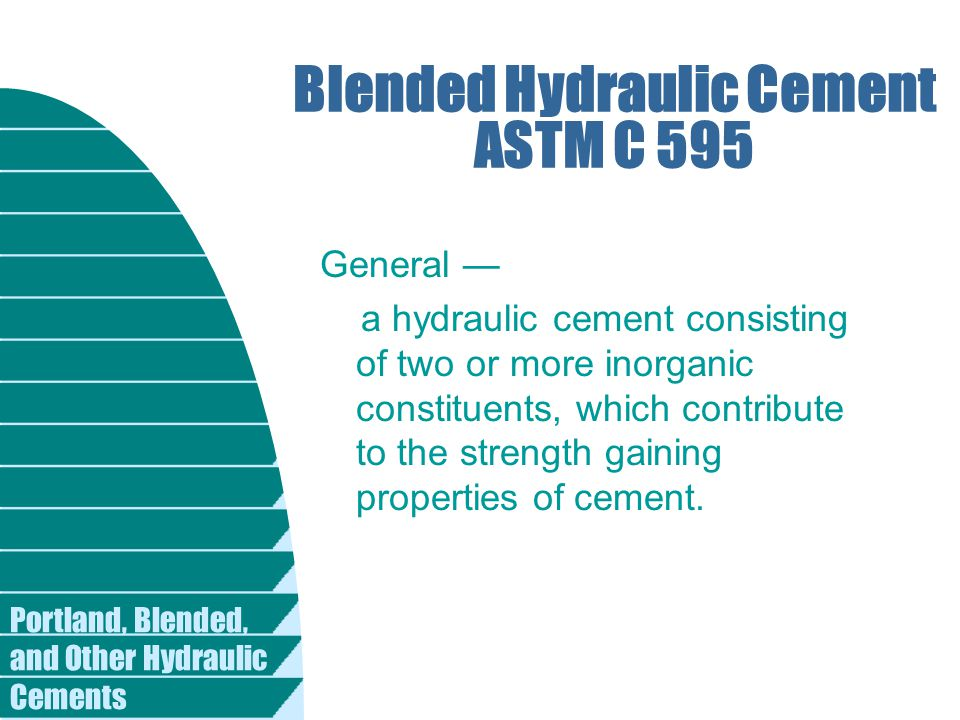 Blended Hydraulic Cement ASTM C 595
