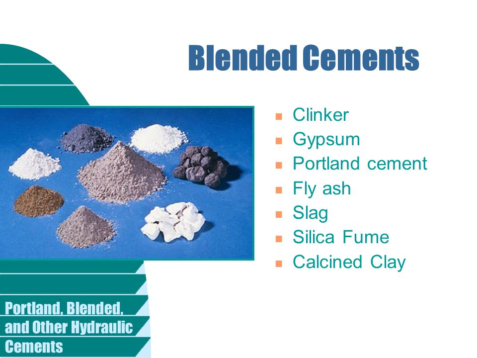 Portland Cement Clinker : Portland blended and other hydraulic cements ppt download