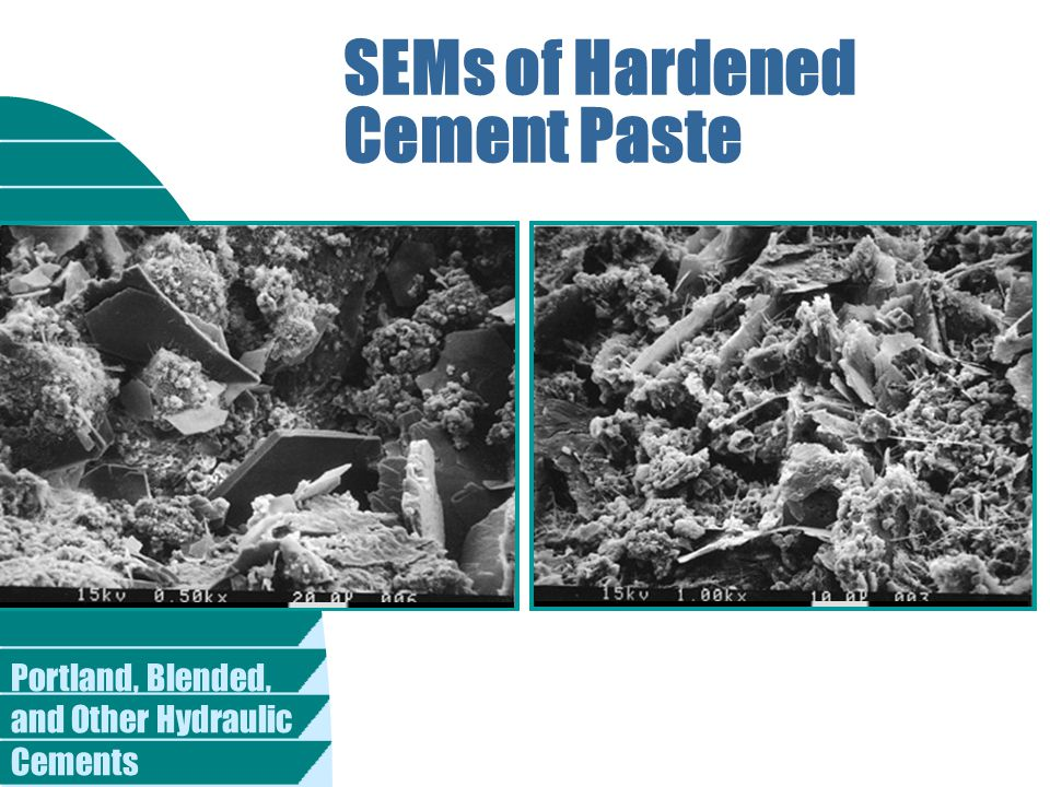 SEMs of Hardened Cement Paste