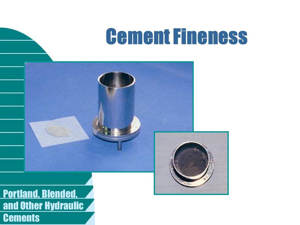 Cement Fineness