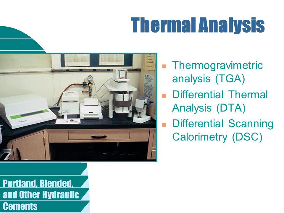 Thermal Analysis Thermogravimetric analysis (TGA)