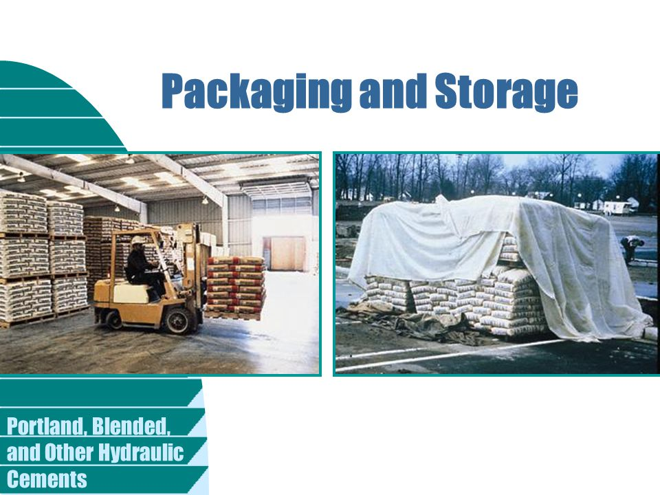 Packaging and Storage Fig. 2-53. A small amount of cement is shipped in bags, primarily for mortar applications and for small projects. (59411)