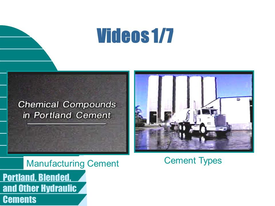 Videos 1/7 Cement Types Manufacturing Cement