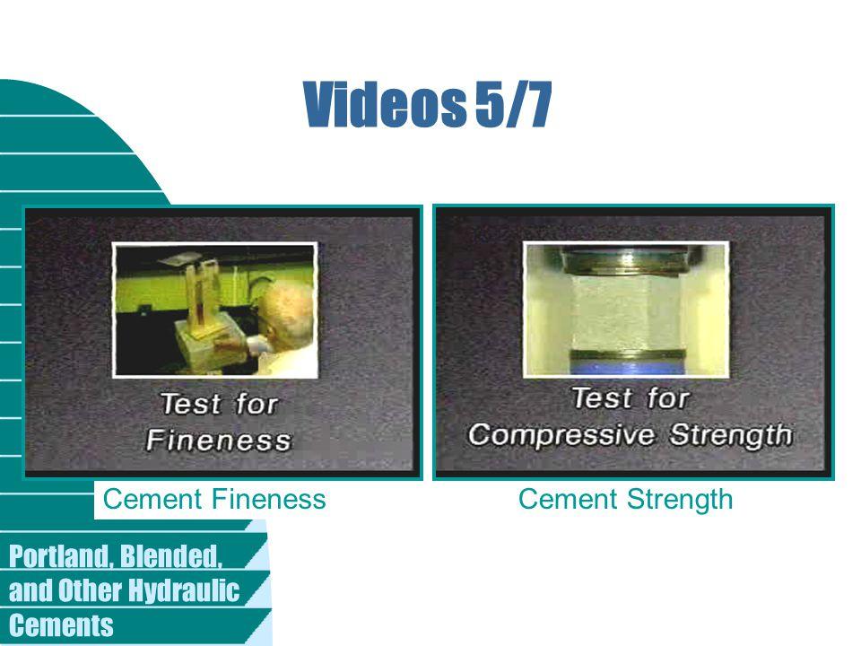 Videos 5/7 Cement Fineness Cement Strength