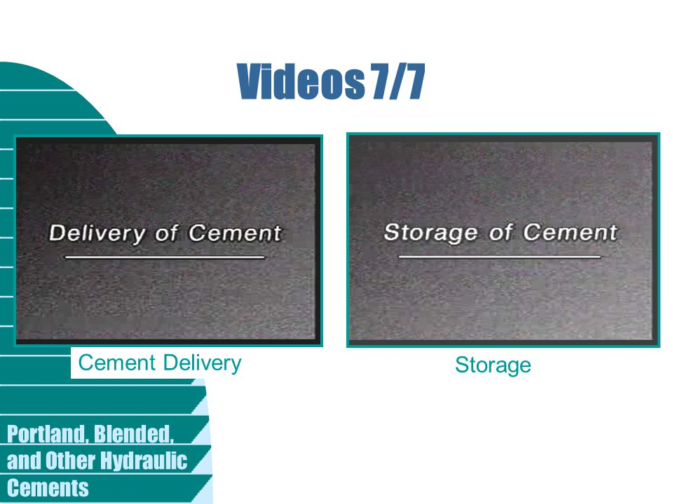 Videos 7/7 Cement Delivery Storage