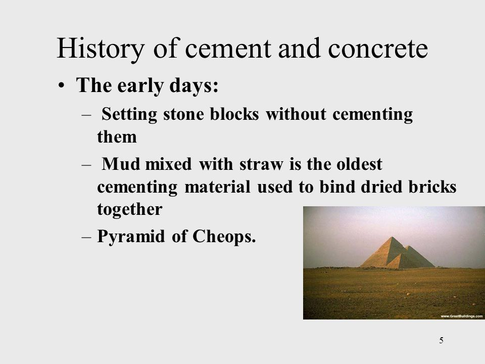 History of cement and concrete