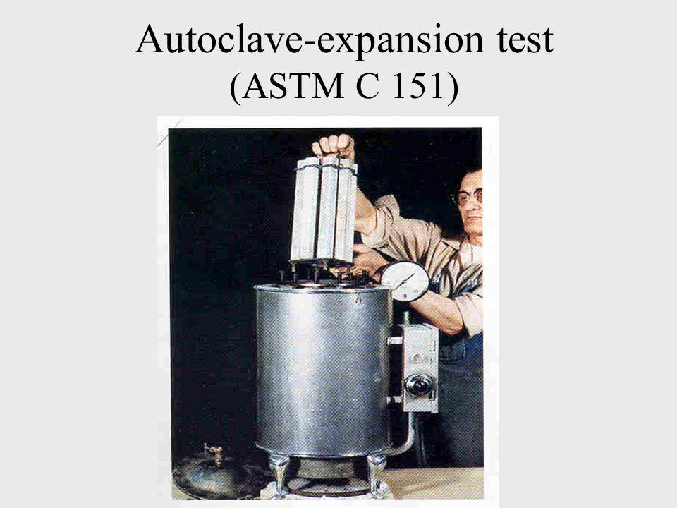 Autoclave-expansion test (ASTM C 151)