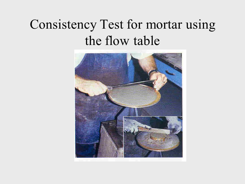 Consistency Test for mortar using the flow table
