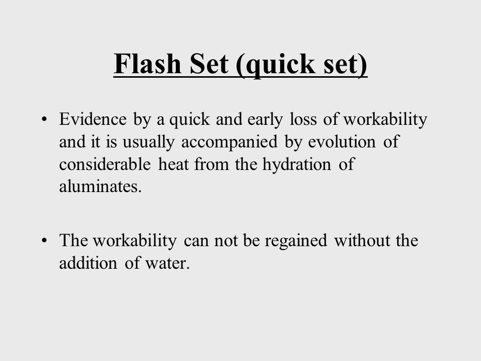 Flash Set (quick set)