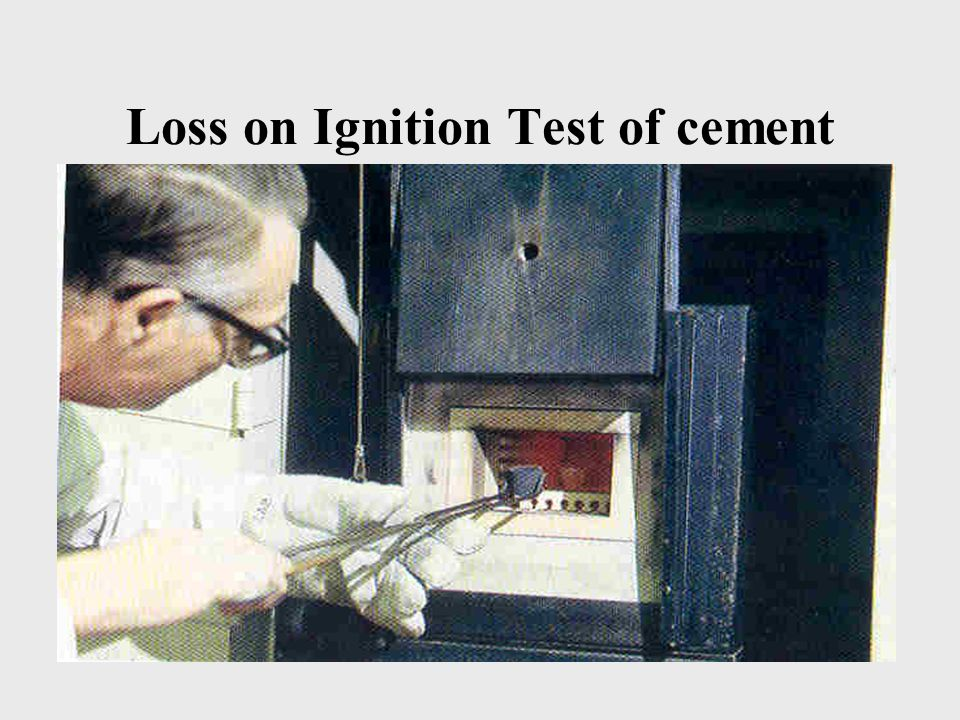 Loss on Ignition Test of cement