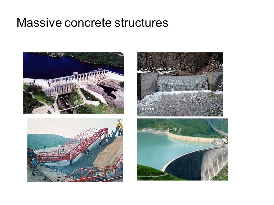 Massive concrete structures
