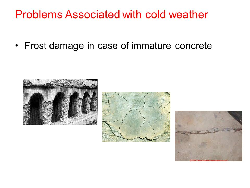 Problems Associated with cold weather