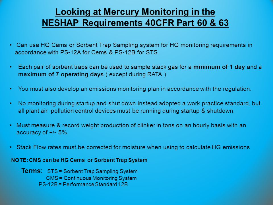 Looking at Mercury Monitoring in the