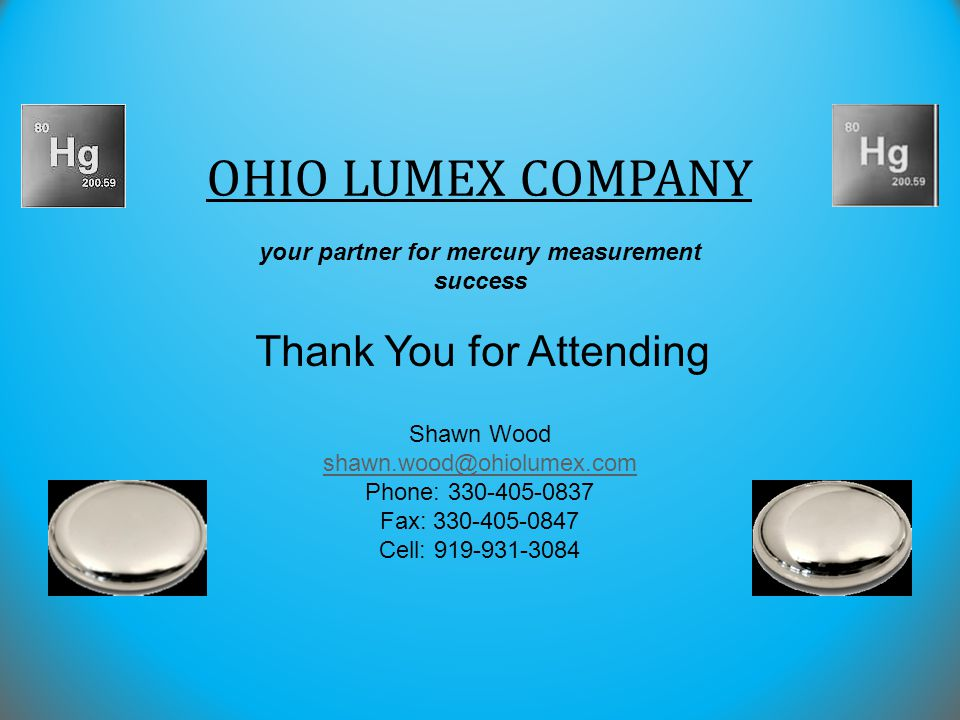 your partner for mercury measurement success