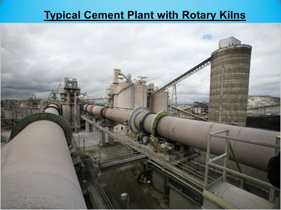 Typical Cement Plant with Rotary Kilns