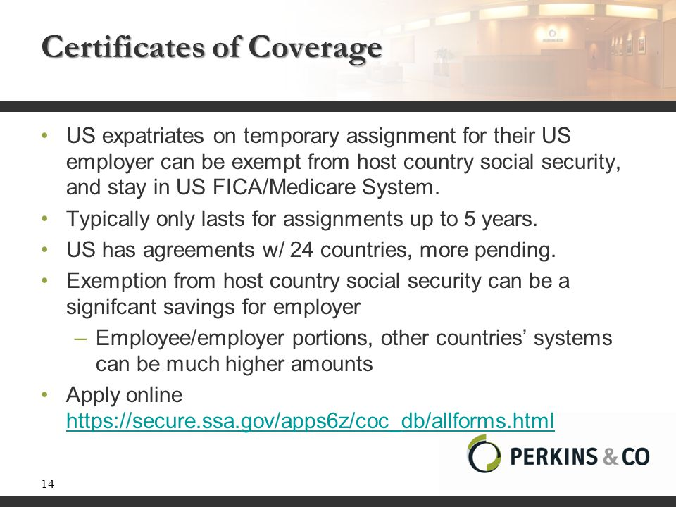 Certificates of Coverage