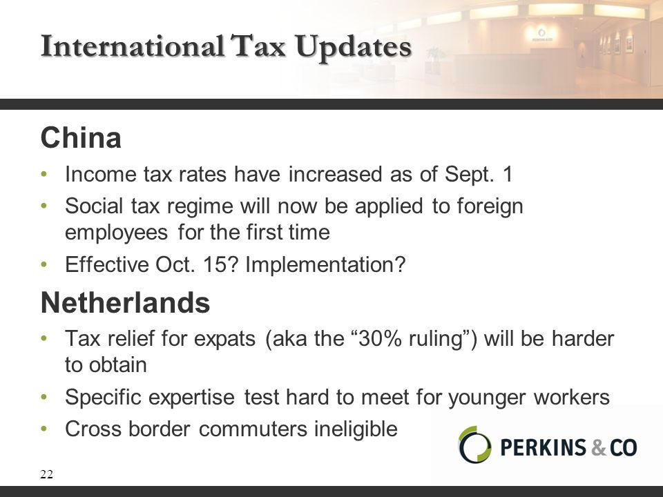 International Tax Updates